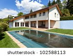 beautiful country house with... | Shutterstock . vector #102588113