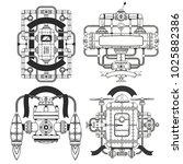 fantastic steampunk machines...   Shutterstock . vector #1025882386