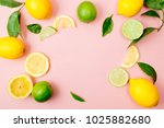 Flat Lay Of Citrus Fruits Like...