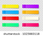 post note sticker set isolated... | Shutterstock .eps vector #1025883118