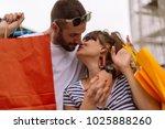 beautiful couple shopping in... | Shutterstock . vector #1025888260