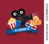 concept cinema popcorn film... | Shutterstock .eps vector #1025888413