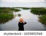 beautiful young woman spending... | Shutterstock . vector #1025892568