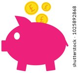 pound sterling currency icon or ... | Shutterstock .eps vector #1025892868