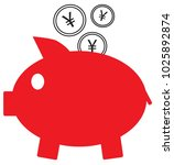 yen  yuan or renminbi currency... | Shutterstock .eps vector #1025892874