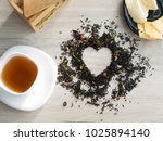 the concept of tea. floral dry... | Shutterstock . vector #1025894140