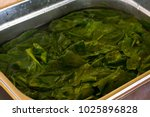 fresh green spinach  soaked in... | Shutterstock . vector #1025896828