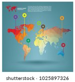 world map infographics in... | Shutterstock .eps vector #1025897326