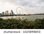 singapore skyline background | Shutterstock . vector #1025898853