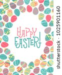 easter vector background and... | Shutterstock .eps vector #1025901160