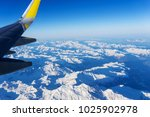 an aerial view from an airplane | Shutterstock . vector #1025902978