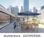 3d rendering. penthouse terrace ...   Shutterstock . vector #1025905300