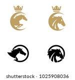 Stock vector set collection horse logo 1025908036