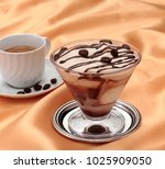 coffee mousse in the cup  | Shutterstock . vector #1025909050