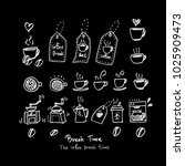 cafe poster   sketchy coffee... | Shutterstock .eps vector #1025909473