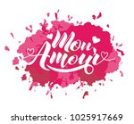 hand painted love card with... | Shutterstock .eps vector #1025917669