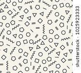 memphis style geometric... | Shutterstock .eps vector #1025923333