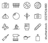 flat vector icon set   camera... | Shutterstock .eps vector #1025926480