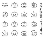 flat vector icon set   scary... | Shutterstock .eps vector #1025926534
