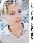 portrait of beautiful teenager... | Shutterstock . vector #1025928490