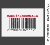 vector realistic barcode  made... | Shutterstock .eps vector #1025929720