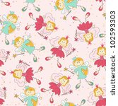 seamless pattern with fairy | Shutterstock .eps vector #102593303