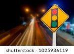 warning sign of red light... | Shutterstock . vector #1025936119