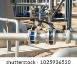 water valves   pipe support for ... | Shutterstock . vector #1025936530
