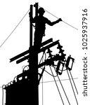 editable vector silhouette of a ... | Shutterstock .eps vector #1025937916