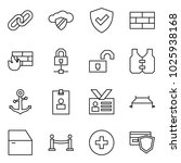 flat vector icon set   link... | Shutterstock .eps vector #1025938168