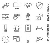flat vector icon set   link... | Shutterstock .eps vector #1025940370