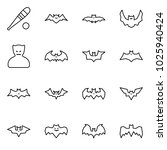 flat vector icon set   bat... | Shutterstock .eps vector #1025940424