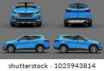set compact city crossover blue ... | Shutterstock . vector #1025943814