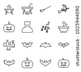 flat vector icon set   witch... | Shutterstock .eps vector #1025944090