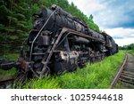 old rusty steam locomotive in... | Shutterstock . vector #1025944618