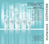 3d realistic cosmetic bottle... | Shutterstock .eps vector #1025945368