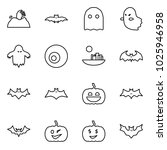 flat vector icon set   zombie... | Shutterstock .eps vector #1025946958