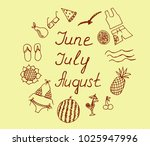 summer months june july august... | Shutterstock .eps vector #1025947996