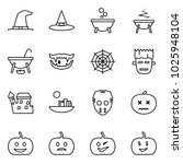 flat vector icon set   witch... | Shutterstock .eps vector #1025948104
