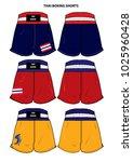 thai boxing short vector | Shutterstock .eps vector #1025960428