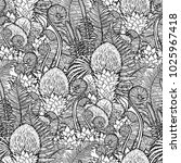 graphic seamless pattern of... | Shutterstock .eps vector #1025967418