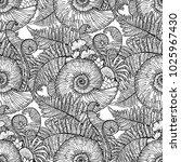 graphic prehistoric seashell... | Shutterstock .eps vector #1025967430