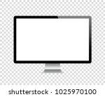 realistick monitor. stock vector | Shutterstock .eps vector #1025970100