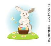 vector illustration of easter... | Shutterstock .eps vector #1025970346