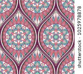 seamless pattern with ethnic...   Shutterstock . vector #1025978878