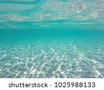 Wonderful crystal turquoise clear water, underwater view - stock photo