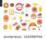love  spring  breakfast   set... | Shutterstock .eps vector #1025989546