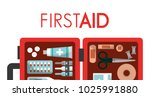 first aid kit medical health | Shutterstock .eps vector #1025991880