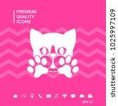 cute cat  paws   logo  symbol ...   Shutterstock .eps vector #1025997109