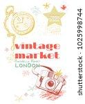 vintage market   vector design... | Shutterstock .eps vector #1025998744